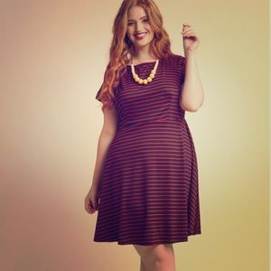 ModCloth Playlist Professional A-line Striped Dres